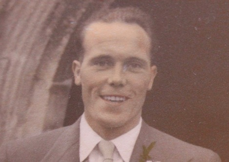 Young Dennis Flatman on his wedding day