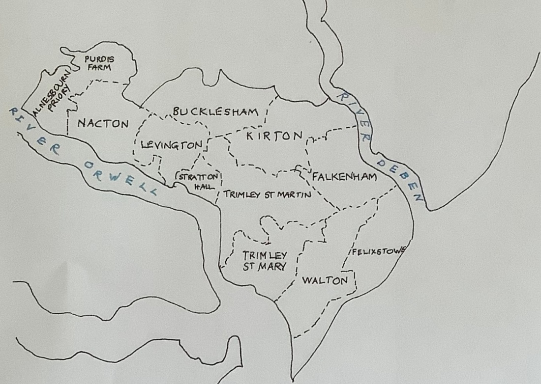 Colneis Hundred boundaries and parishes